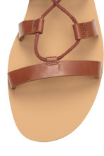 Sandals with lacing - Brown - Ladies | H&M CN 4