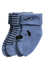 2-pack socks  - Blue/Striped - Kids | H&M CN 2
