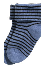 2-pack socks  - Blue/Striped - Kids | H&M CN 4