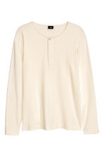 Jersey Henley shirt - Natural white - Men | H&M CN 2