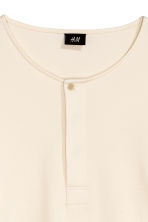 Jersey Henley shirt - Natural white - Men | H&M CN 3