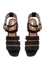 Suede sandals - Black - Ladies | H&M GB 3