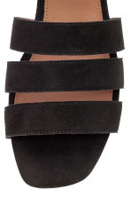 Suede sandals - Black - Ladies | H&M GB 4