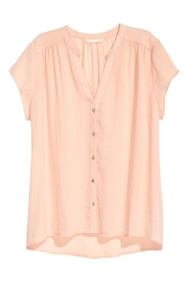 V-neck blouse - Powder - Ladies | H&M CN 1