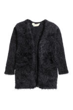 Fluffy cardigan - Black -  | H&M CN 2