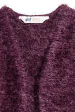 Fluffy cardigan - Plum - Kids | H&M CN 3