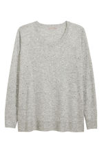 H&M+ Fine-knit jumper - Light grey marl - Ladies | H&M CN 2
