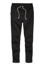Cotton twill joggers - Black -  | H&M 4