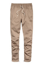 Cotton twill joggers - Beige - Men | H&M CN 2