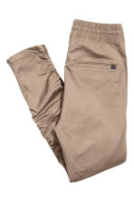 Cotton twill joggers - Beige - Men | H&M CN 3