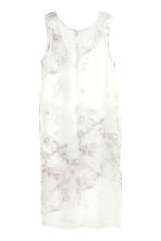 Sleeveless chiffon tunic - Grey-beige/Patterned - Ladies | H&M CN 2