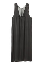 Sleeveless chiffon tunic - Black - Ladies | H&M CN 2