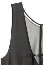 Sleeveless chiffon tunic - Black - Ladies | H&M CN 3