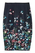 Gonna a tubino - Blu scuro/fiori - DONNA | H&M IT 2