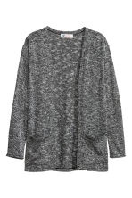 Fine-knit cardigan - Black marl - Kids | H&M CN 2