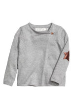 Wrapover cardigan - Grey marl - Kids | H&M CN 2