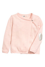 Wrapover cardigan - Light pink marl - Kids | H&M CN 2