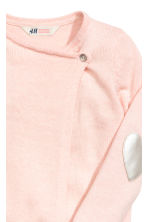 Wrapover cardigan - Light pink marl - Kids | H&M CN 3