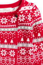 Wrapover cardigan - Red/Reindeer - Kids | H&M CN 2