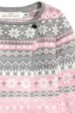 Wrapover cardigan - Pink/Grey -  | H&M CN 3