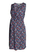 MAMA Patterned dress - Dark blue/Floral - Ladies | H&M CN 2