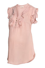 MAMA Frilled blouse - Powder pink - Ladies | H&M CN 2
