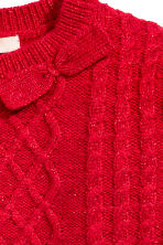 Jumper with appliqués - Red/Glitter - Kids | H&M CN 3