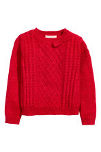Jumper with appliqués - Red/Glitter - Kids | H&M CN 2