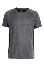 Ultra-light running top - Dark grey marl - Men | H&M CN 2