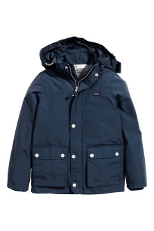Parka in a cotton blend
