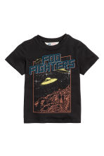 Printed T-shirt - Black/Foo Fighters - Kids | H&M CN 2