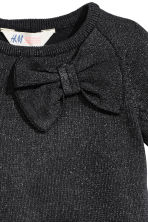 Fine-knit dress - Black/Glitter - Kids | H&M CN 3
