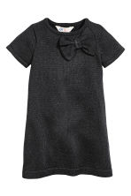 Fine-knit dress - Black/Glitter - Kids | H&M CN 2