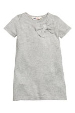 Fine-knit dress - Light grey/Glittery - Kids | H&M CN 2
