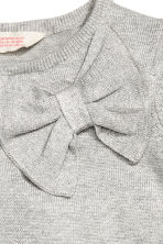 Fine-knit dress - Light grey/Glittery - Kids | H&M CN 3