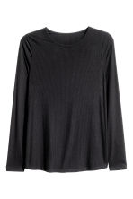H&M+ Long-sleeved top - Black - Ladies | H&M GB 2