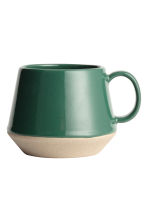 Stoneware mug - Dark green - Home All | H&M 2