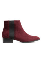 Ankle boots - Burgundy - Ladies | H&M CN 1