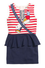 Dress with a flounce - Dark blue/Pirate - Kids | H&M GB 2