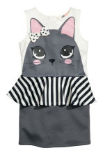 Dress with a flounce - Dark grey/Rabbit - Kids | H&M CN 2