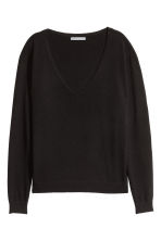 V-neck cashmere jumper - Black - Ladies | H&M CN 2