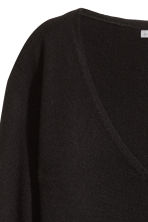 V-neck cashmere jumper - Black - Ladies | H&M CN 3