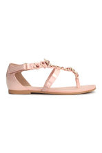 Sandals with flowers - Light pink - Kids | H&M CN 3