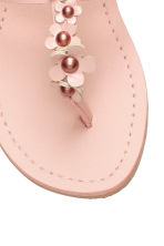 Sandals with flowers - Light pink - Kids | H&M CN 5