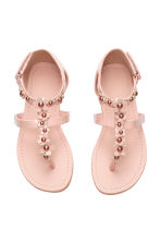 Sandals with flowers - Light pink - Kids | H&M CN 2