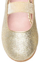 Elasticated ballet pumps - Gold - Kids | H&M CA 5