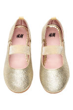 Elasticated ballet pumps - Gold - Kids | H&M CA 2