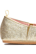 Elasticated ballet pumps - Gold - Kids | H&M CA 4