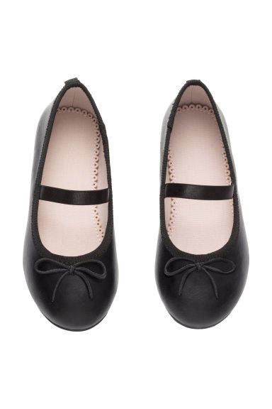 Ballet pumps with strap - Black - Kids | H&M CA 1