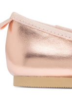 Ballet pumps with strap - Rose gold - Kids | H&M 6